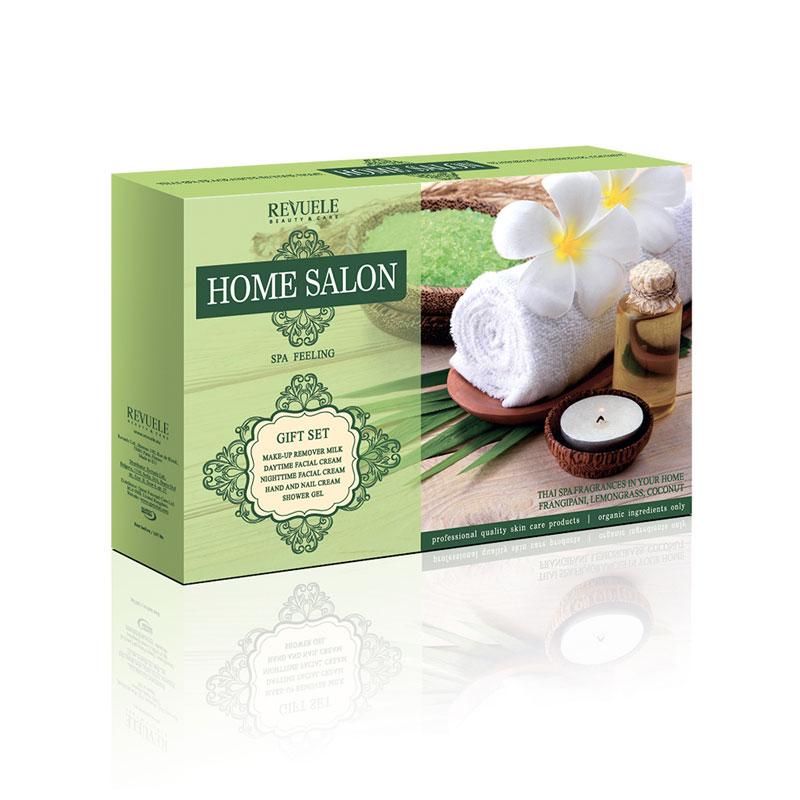 Revuele poklon set Thai SPA (dnevna+noćna kr.50ml,serum za uklanjanje šminke 50ml,gel za tuširanje 75ml,krema za ruke 75 ml)